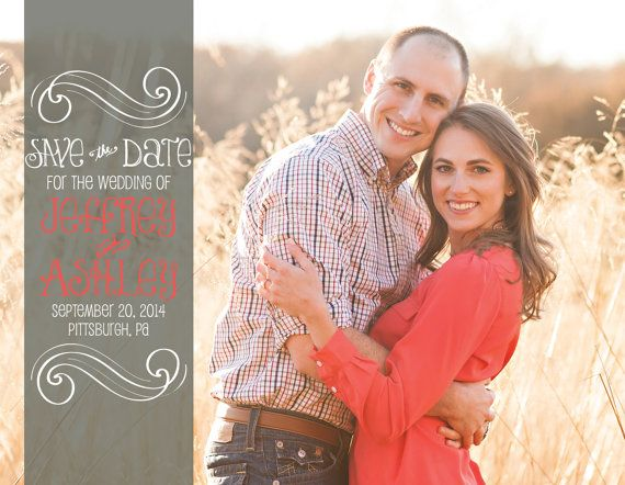 Simple Whimsical Wedding Save the Date Cards by gwenmariedesigns, $15.00