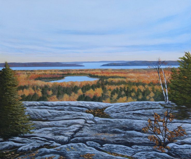 """""""View from the Cup & Saucer Trail"""" Acrylic 24 x 20 www.lindamullola.com"""