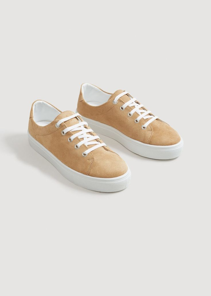 Leather sneakers | MANGO