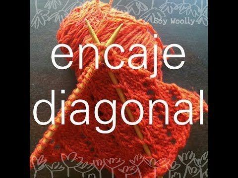 Punto de Encaje en Diagonal - Soy Woolly - YouTube