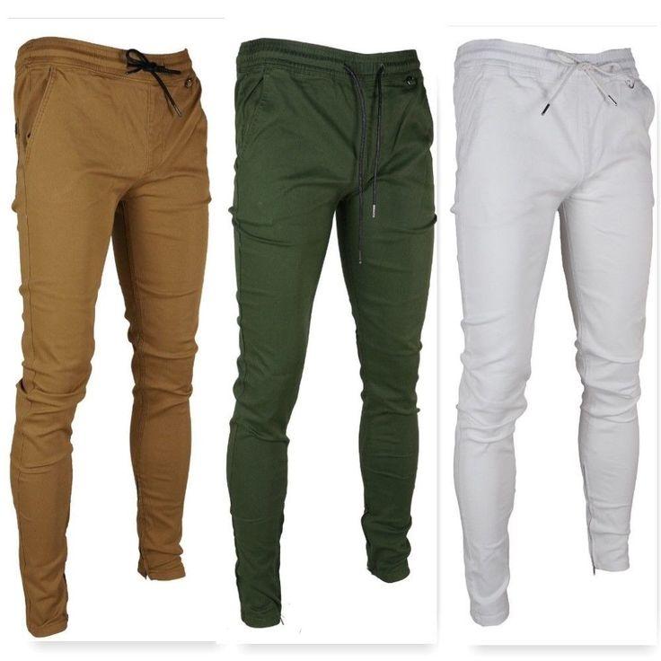 Kayden.K Men's Tapered Ankle Zipper Slim Fit Jogger Pants #KaydenK #SlimJoggerPants