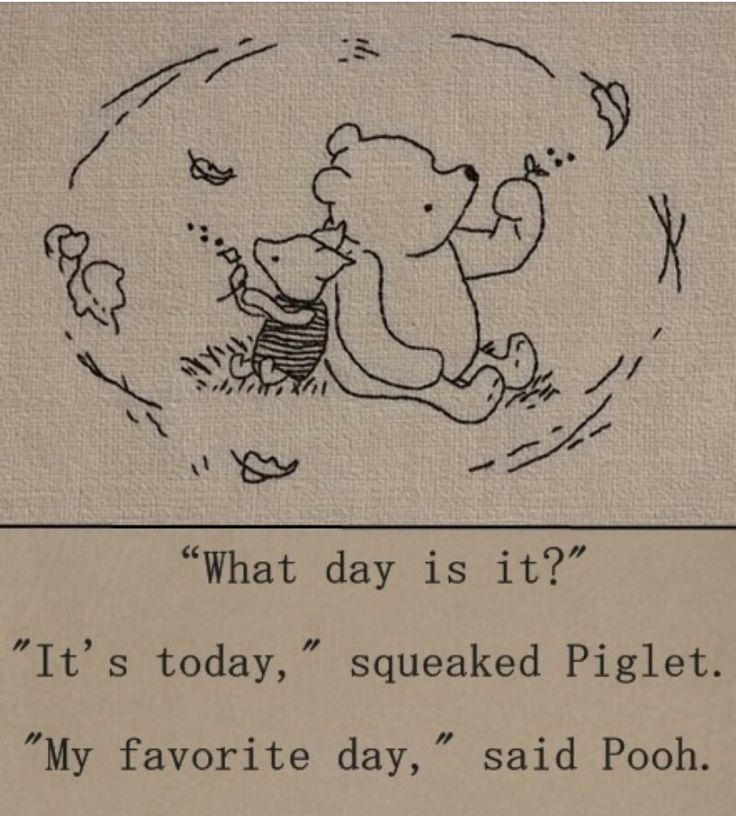 Not crazy about Winnie or Piglet. Do like what they' ve got to say here.