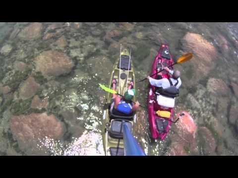 Kayak fishing the Devils River in Texas by San Antonio. Nice clear water and tons of bass - sweet!