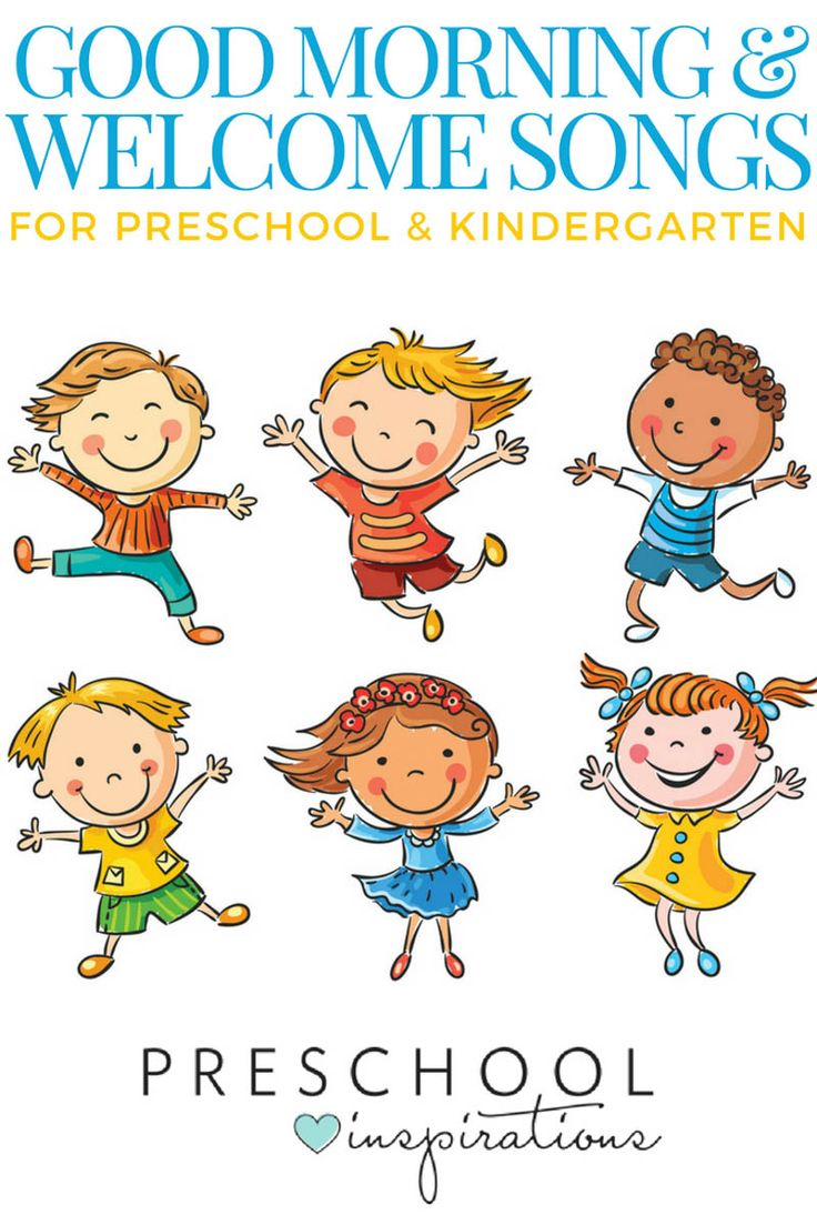 The best good morning songs and welcome songs for preschool and kindergarten! Use these kid songs for circle time or to start the day!