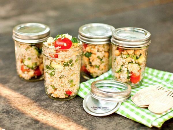 13 clean & lean lunches in a mason jar