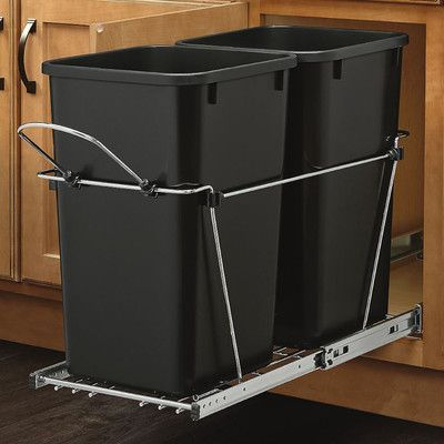 Rev-A-Shelf Double 27 Quart Pullout Waste Container