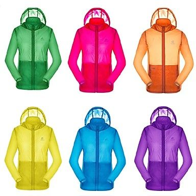 Mujer Chaqueta / Impermeable Camping y senderismo / Playa / Ciclismo / Campo TraviesaImpermeable / Transpirable / Resistente a los UV / – USD $ 16.99