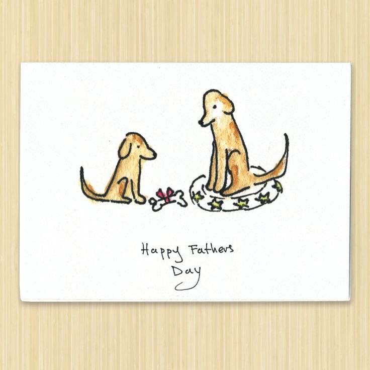 Father's Day card, Happy fathers day greeting card, dog card, recycled paper card by Rosieswonders on Etsy