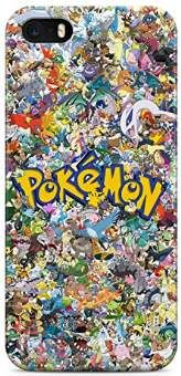 All Pokemons Logo Collage Kanto Pokemon Hard Plastic Snap On Back Case Cover For iPhone 5 / 5s Handy Schutzhülle