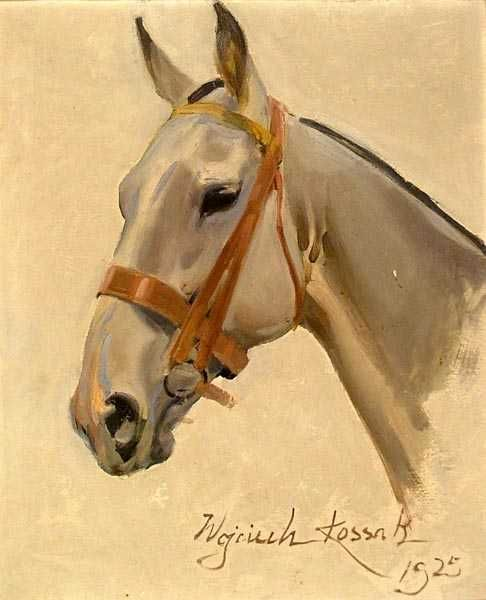 Wojciech KOSSAK (1856-1942); Horse head