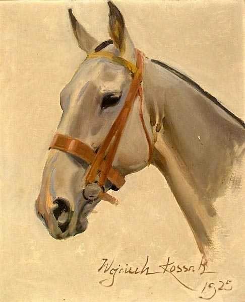 Wojciech KOSSAK (1856-1942); Horse head