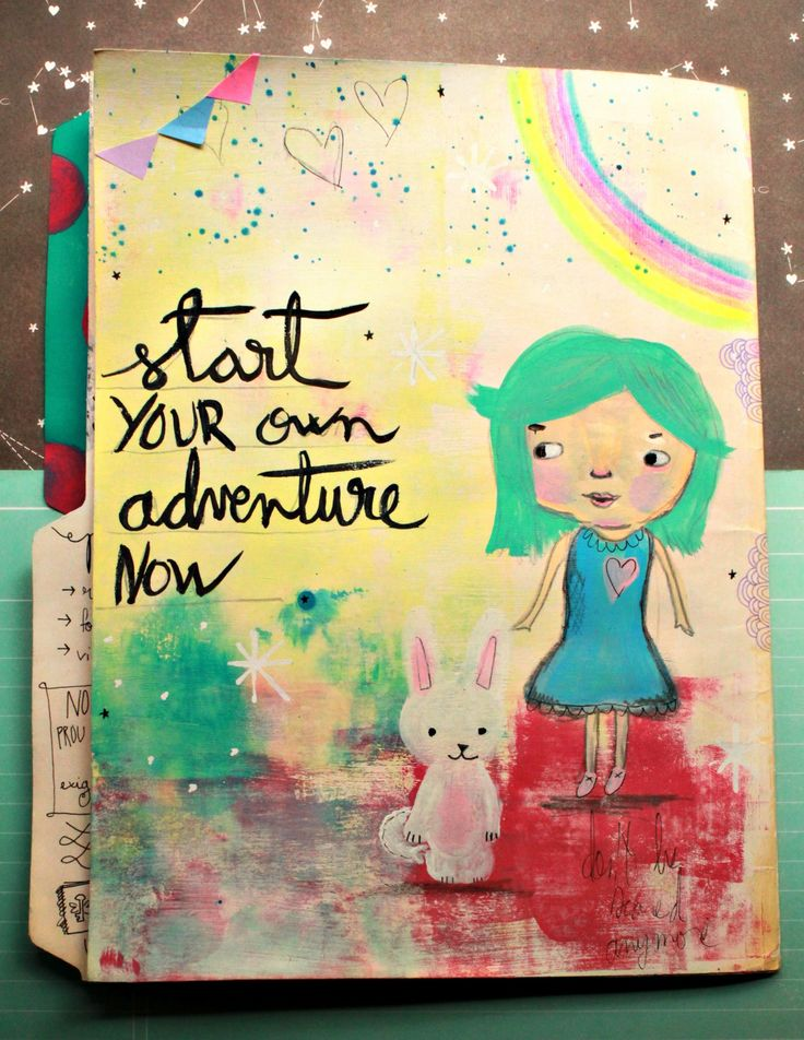 Start your own adventure now * mix media illustration by Licesbury
