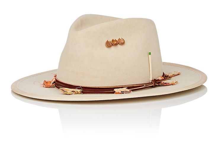 Bone Felt Fedora Nick Fouquet
