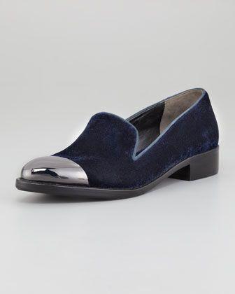 Velvet smoking slippers for the fall. Rachel Roy Cap-Toe Velvet Loafer
