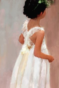 Beautiful little girl... #painting #people josephklouda@gmail.com