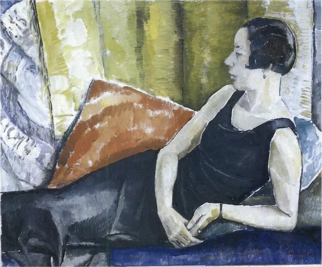Holst, Agda (1886-1976): Portrait of Tora Vega Holmström. 1932. Oil on canvas. Private collection. Photo: Geert Nicolai Vestergaard-Hansen