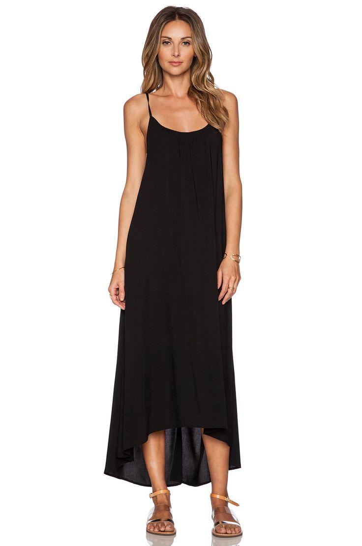 TAVIK Swimwear Stella Maxi Dress in Jet Black | REVOLVE