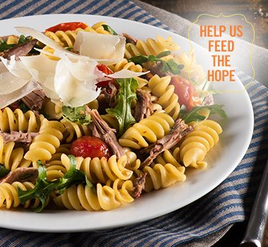 Rotini Pasta with Braised Lamb Shoulder | For every Facebook share or download of our Pasta to the Rescue cookbook or its recipes, we're donating portions of pasta to food banks across Canada. Visit https://www.catelli.ca/en/feed-the-hope/ to learn more.
