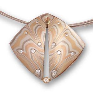 20 best damascus steel mokume gane images on pinterest jewerly mokume diamond butterfly necklace mokume necklaces and pendants george sawyer aloadofball Gallery