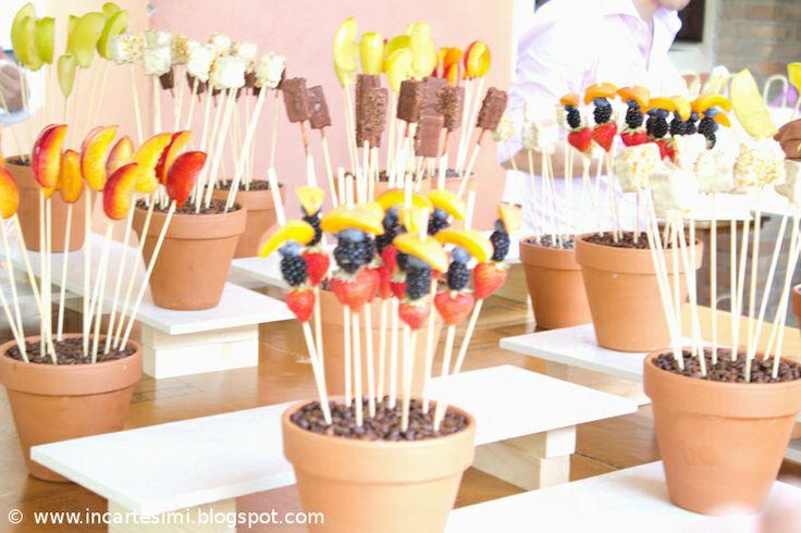 Idee per spiedini di frutta e cioccolato