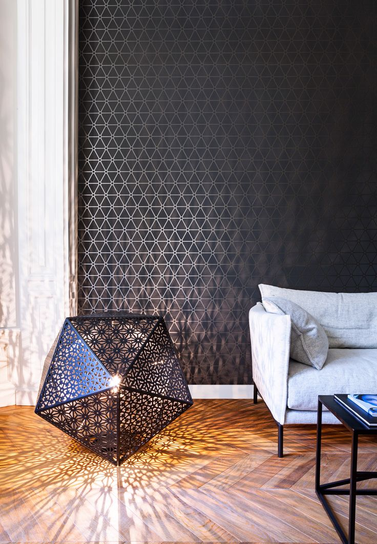 Black wallpaper/behang Layers by Edward van Vliet - BN
