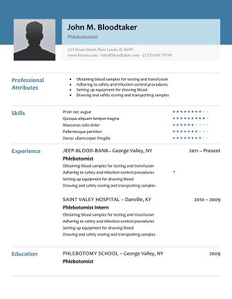 Wonderful 10 Free Phlebotomy Resume Templates You Must See