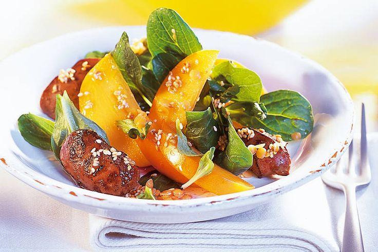 Das Rezept für Entenleber auf Feldsalat mit allen nötigen Zutaten und der einfachsten Zubereitung - gesund kochen mit FIT FOR FUN