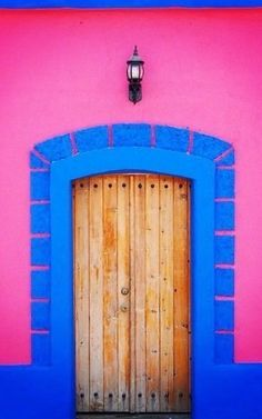 Todos Santos in Baja California Sur, Mexico Cool Doors, Unique Doors, Entrance Doors, Doorway, Fachada Colonial, Portal, When One Door Closes, Baja California, Painted Doors