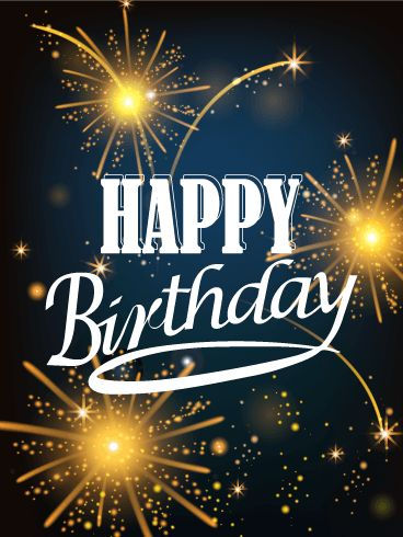 Birthday Fireworks Card. Birthdays are exciting! Let's show your excitement by sending this card. Just like the fireworks on this card, a birthday person's heart will sparkle when he receives this card. Let's make a birthday more joyful and fun!