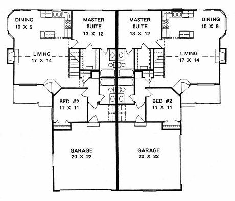 66 best images about duplex plans on pinterest for Duplex apartment plans