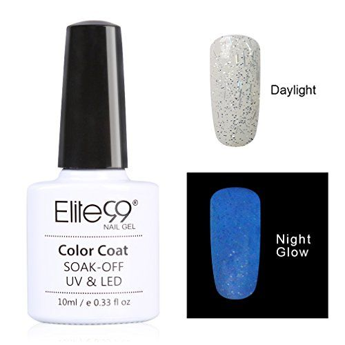 Elite99 Night Glow In the Dark Gel Nail Polish Soak Off UV LED Luminous Nail Lacquer Candy Colour Fluorescent Nail Art 10ml for Club Festivals or Night out 6724 *** Click on the image for additional details.