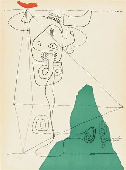 Artwork by Le Corbusier, Taureau I, Made of Lithograph printed in colors on Arches paper