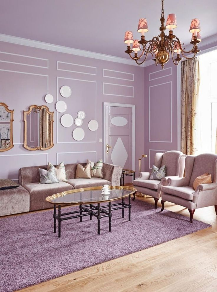 Purple Color Room Designs: The Best 30 Cute Living Room With Purple Color Schemes