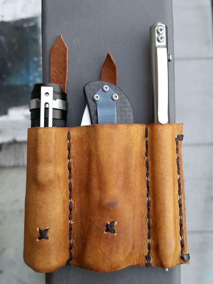 Custom Handmade Leather EDC Pocket Holster (#QuickCrafter)