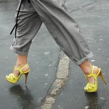 Grey and Neon Yellow...perfect way to tone down an energized color.
