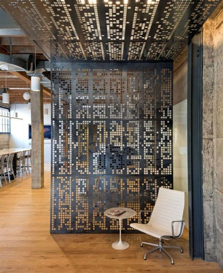 Metal Interior Design 39 best screens / dividing spaces / wall treatments images on