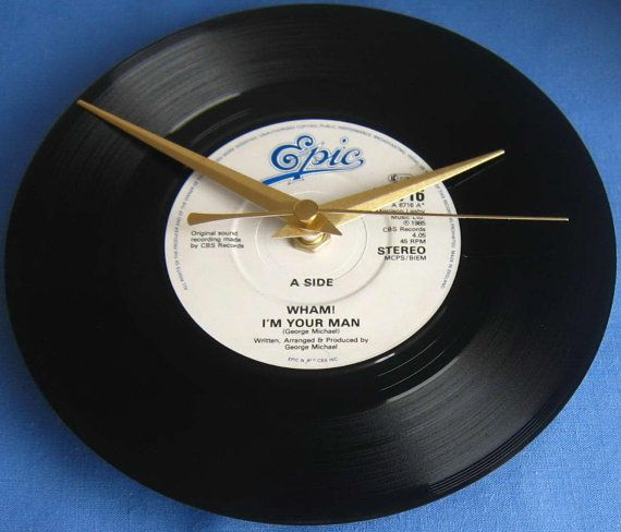 Wham Vinyl Record Clock I'm Your Man single by musicclippingsuk