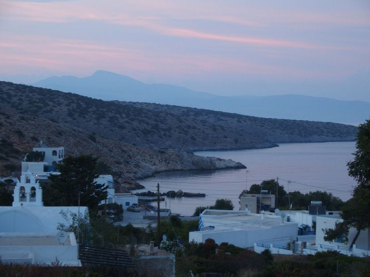 The port of Iraklia, Cyclades, Greece