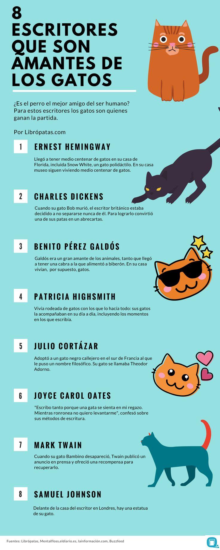8 escritores que son amantes de los gatos