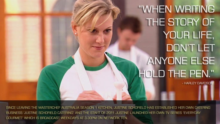 Since leaving the MasterChef Season 1 kitchen, Justine Schofield has established her own catering business 'Justine Schofield Catering' and at the start of 2011 Justine launched her own TV series 'Everyday Gourmet' which is broadcast weekdays at 3.30pm on Network Ten. MAKE JUSTINE'S LAMB ROULADE WITH SPINACH AND MINT: http://bit.ly/17Fq7OO