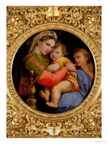 The Madonna of the Chair Giclee Print by Raphael Art