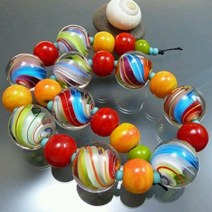 melanie moertel lampwork beads once in a while