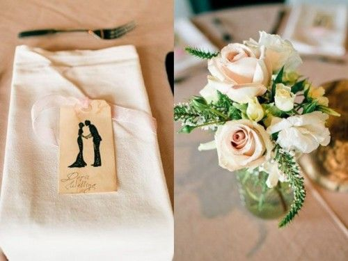 17 Silhouette Wedding Placement Cards And Escort Cards | Weddingomania