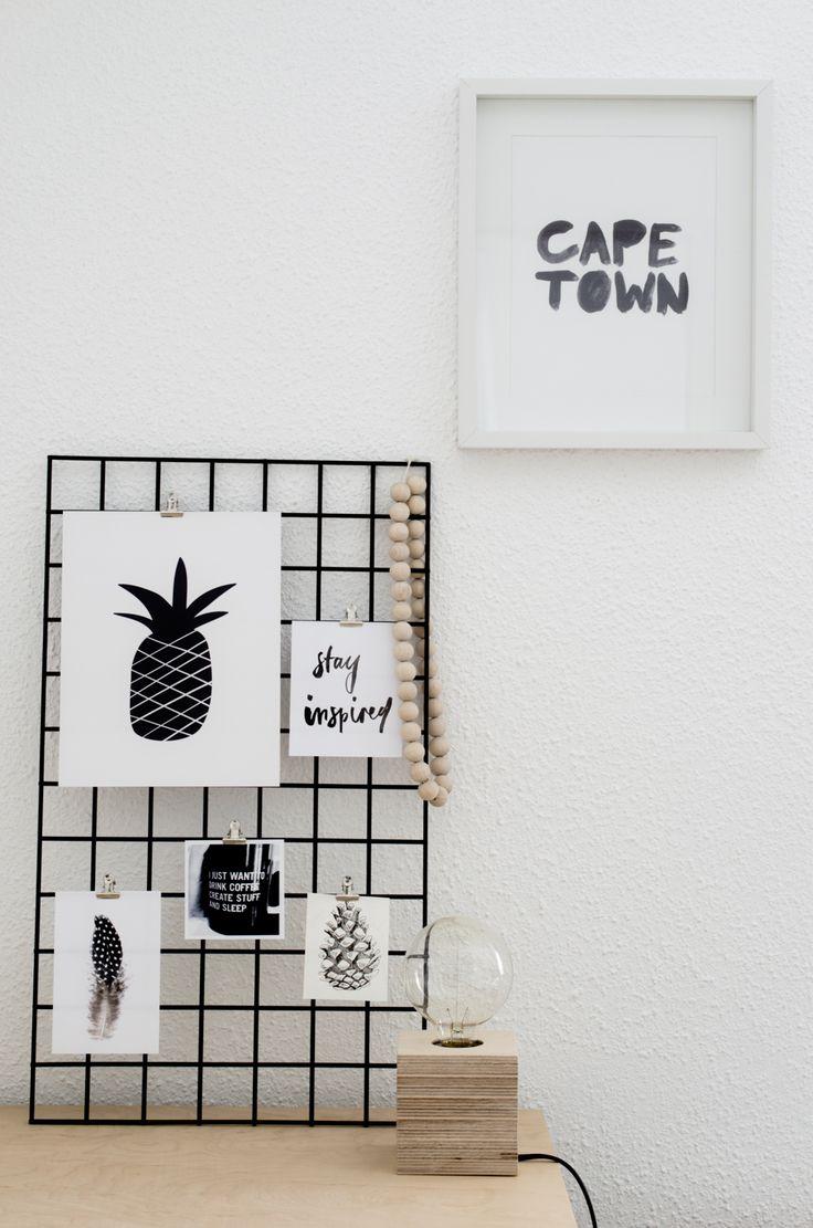 wire mesh board (white) - monoshop