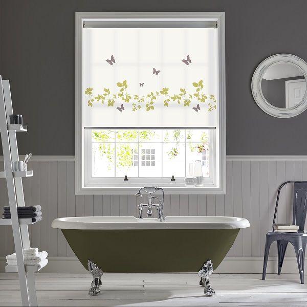Best Vine Butterfly roller blinds by Style Studio Bathroom blinds Roller blinds Modern bathroom RollosFr hlingRollenBadezimmer