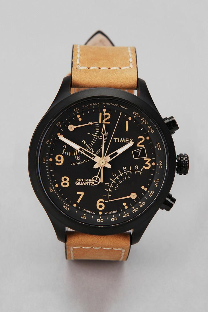 Timex Flyback Chrono Watch  #UrbanOutfitters: Urban Outfitters, Style, Catalog, Men Fashion, Flyback Chronograph, Timex Flyback, Chrono Watches, Chronograph Watches, Men Watches