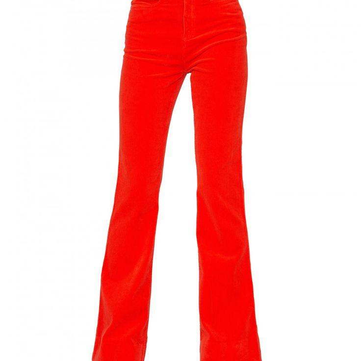 Flare Jeans Cord 70's Orange