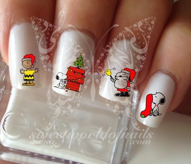 Snoopy Christmas Nail Art Nail Water Decals