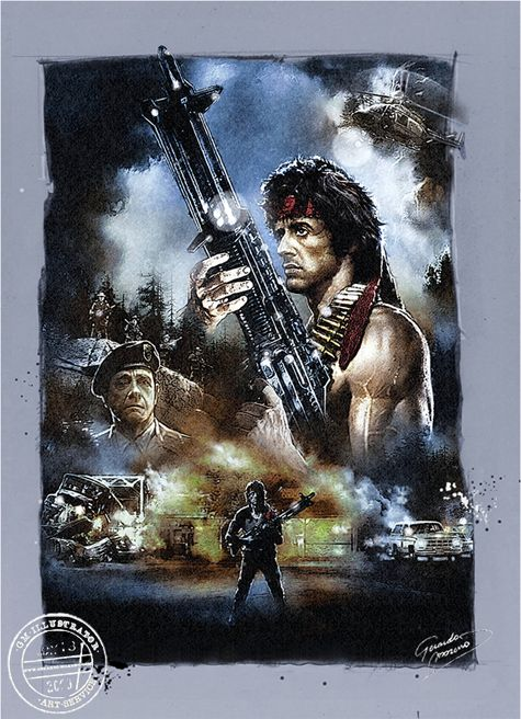 """Sylvester Stallone as John Rambo in First Blood (1982)  """"They drew first blood, not me."""""""