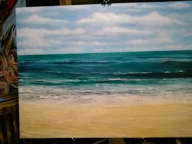 After twicking the foreground the piece is done , now for a frame , hmmm look of driftwood , but simple and nice , thanks be to God